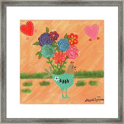 Henrietta The High Heeled Hen Framed Print