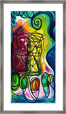 Creve Coeur Streetlight Banners Whimsical Motion 1 Framed Print by Genevieve Esson