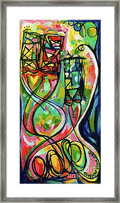 Creve Coeur Streetlight Banners Whimsical Motion 2 Framed Print by Genevieve Esson