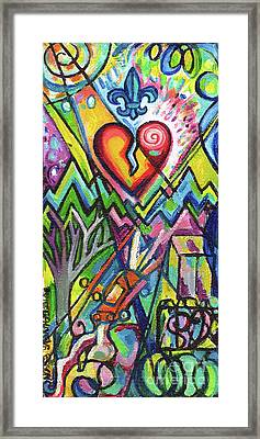 Creve Coeur Streetlight Banners Whimsical Motion 5 Framed Print by Genevieve Esson