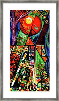 Creve Coeur Streetlight Banners Whimsical Motion 6 Framed Print by Genevieve Esson