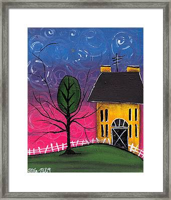 Whimsical Night Framed Print by  Abril Andrade Griffith