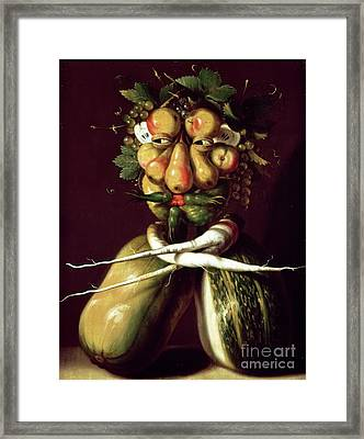 Whimsical Portrait Framed Print