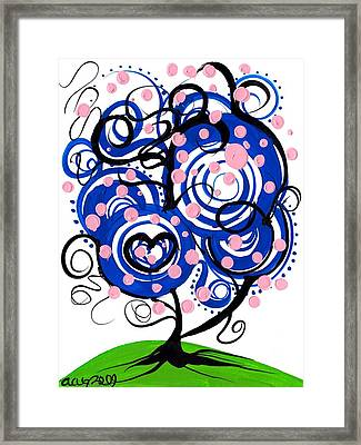 Whimsical Tree 3 Framed Print by  Abril Andrade Griffith