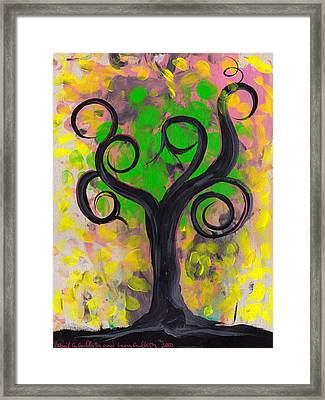 Whimsical Tree 5 Framed Print by  Abril Andrade Griffith