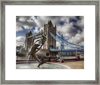 Whimsy At Tower Bridge Framed Print