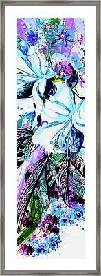 Whimsy In Blue Framed Print