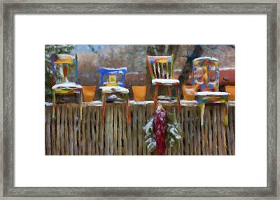 Whimsy In Taos Framed Print
