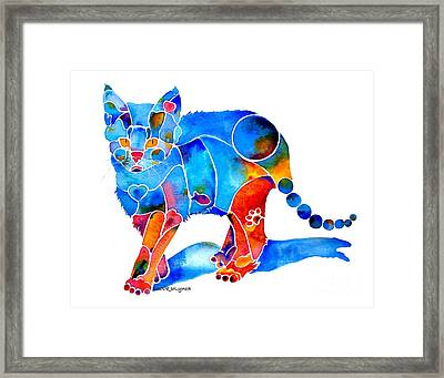 Whimzical Katie Kitten Framed Print