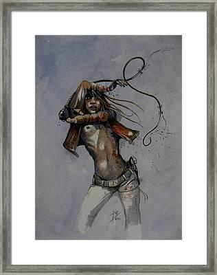 Whip Framed Print
