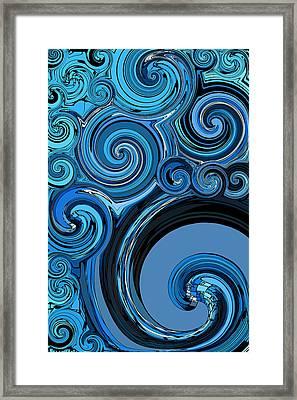 Whirl 4 Framed Print by Chris Butler