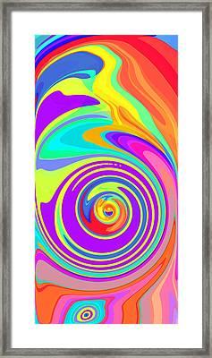 Whirl 5 Framed Print by Chris Butler
