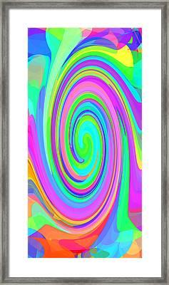 Whirl 6 Framed Print by Chris Butler