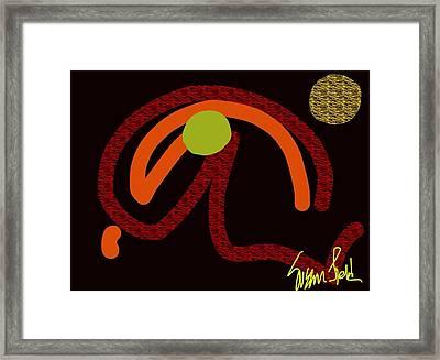 Whirley Woo Framed Print