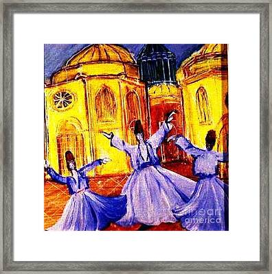 Whirling Dervishes 2 Framed Print by Duygu Kivanc