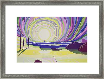 Whirling Sunrise - La Rocque Framed Print by Derek Crow
