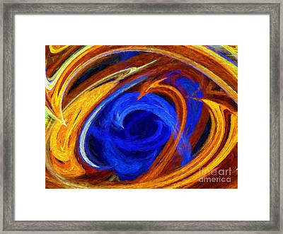 Whirlpool Abstract Framed Print by Andee Design