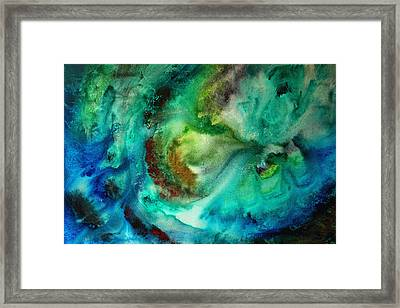 Whirlpool By Madart Framed Print by Megan Duncanson