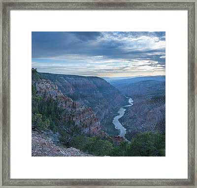 Framed Print featuring the photograph Whirlpool Canyon by Joshua House