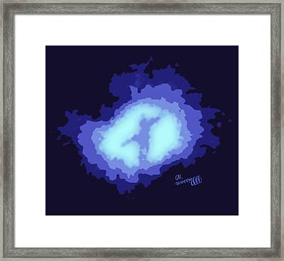 Whirlpool Galaxy.the Master Plan Framed Print by Jean-Marie Poisson