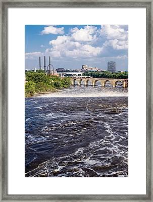 Whirlpool On Mississippi Framed Print