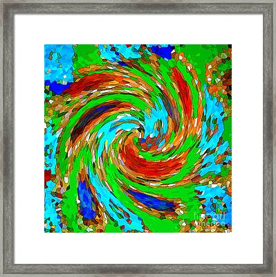 Whirlwind - Abstract Art Framed Print by Carol Groenen
