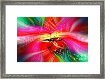 Whirlwind Of Colors Framed Print by Sue Melvin