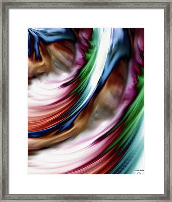 Whirlwind Rainbow Golden Snow Framed Print
