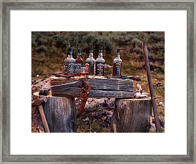 Whiskey And Guns Framed Print by Leland D Howard