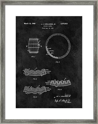 Whiskey Barrel Patent Framed Print by Dan Sproul
