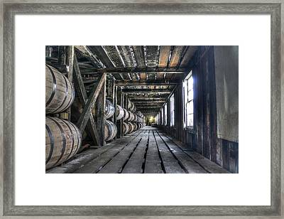 Whiskey Bourbon Barrels Wild Turkey Distillery Kentucky Framed Print