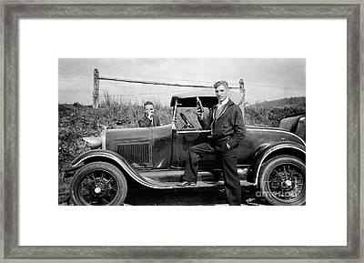 Whiskey Car Framed Print by Jon Neidert