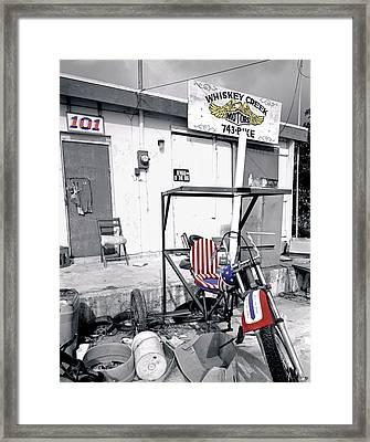 Whiskey Creek Motors Framed Print