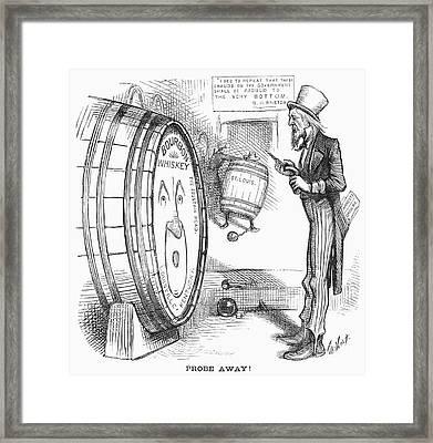 Whiskey Ring Cartoon, 1876 Framed Print by Granger