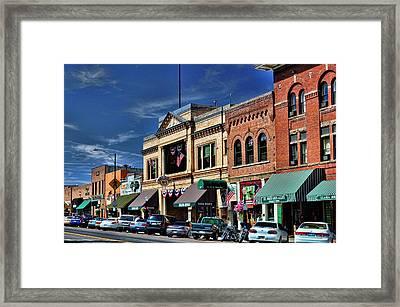 Whiskey Row - Prescott  Framed Print