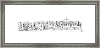 Whiskey Row Alley, Prescott Framed Print
