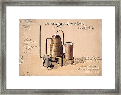 Whiskey Still Patent Print Framed Print by Pg Reproductions