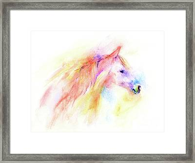 Framed Print featuring the painting Whisper by Elizabeth Lock