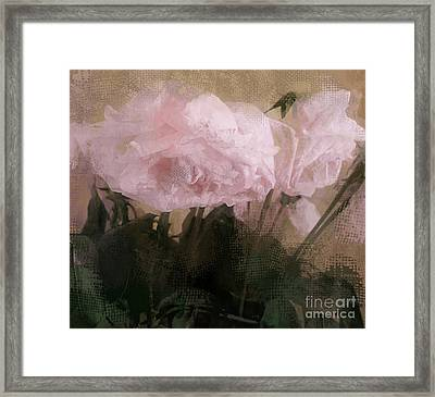 Framed Print featuring the digital art Whisper Of Pink Peonies by Alexis Rotella