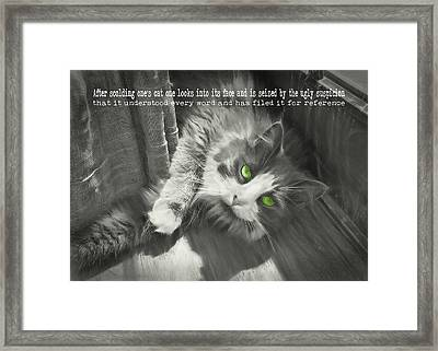 Whisper Quote Framed Print by JAMART Photography