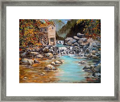 Whisper Run Mill Framed Print