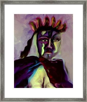 Framed Print featuring the painting Whisper by Shelley Bain