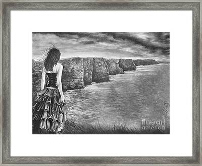 Whisper - The Cliffs Of Moher Framed Print by Gary Rudisill