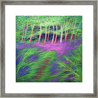 Framed Print featuring the painting Whisper The Wind by Angela Treat Lyon