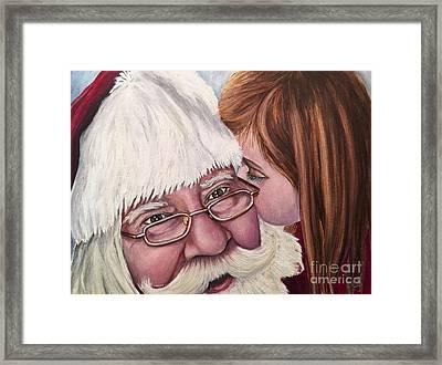 Whispered Wishes Santa  Framed Print