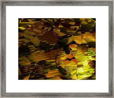 Whispering Behind Her Back Framed Print by Vic Eberly