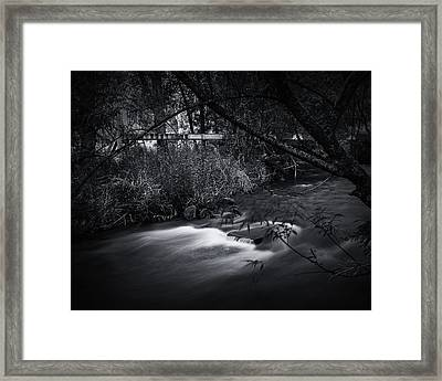 Framed Print featuring the photograph Whispering Brooke by Tim Nichols