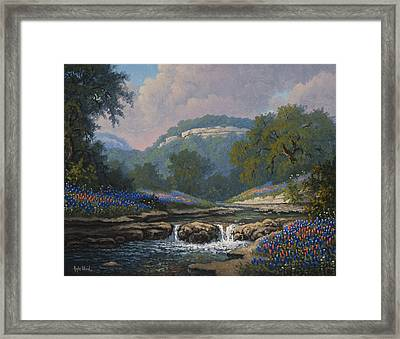Whispering Creek Framed Print by Kyle Wood