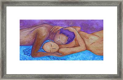 Whispering Framed Print by Gioia Albano