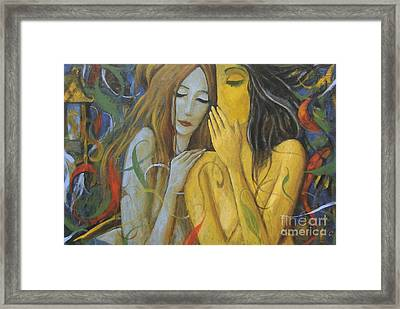 Whispering Mermaids Framed Print by Glenn Quist